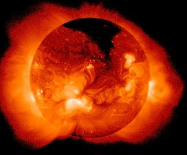 Sunce u X spektru (koronarna rupa)