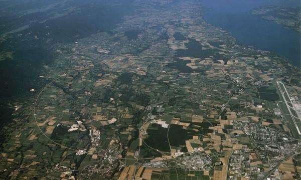 Pogled na CERN iz vazduha