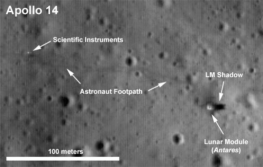 Apolo 14 - obeležena fotogrfaija