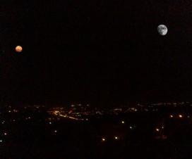 Veliki Mars i Mesec iznad Beograda 6