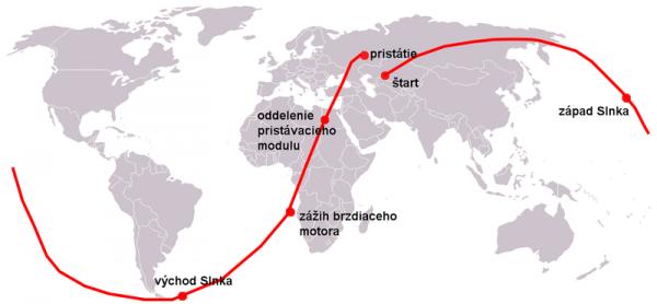 Karta leta - Vostok 1