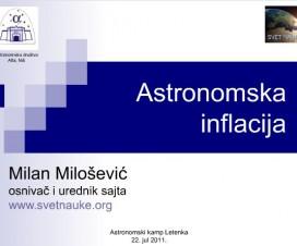Astronomska inflacija (predavanje) 2