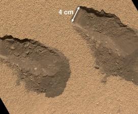 Mesta na kojima je Curiosity uzeo prve uzorke tla za analizu