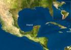 Položaj kratera Čiksulub na polusotrvu Jukatan, Meksiko