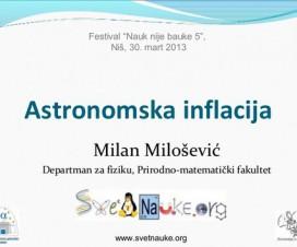 Predavanje: Astronomska inflacija 5