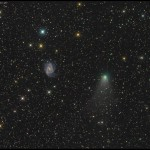 Slika dana: Galaksija i kometa [10.10.2013]