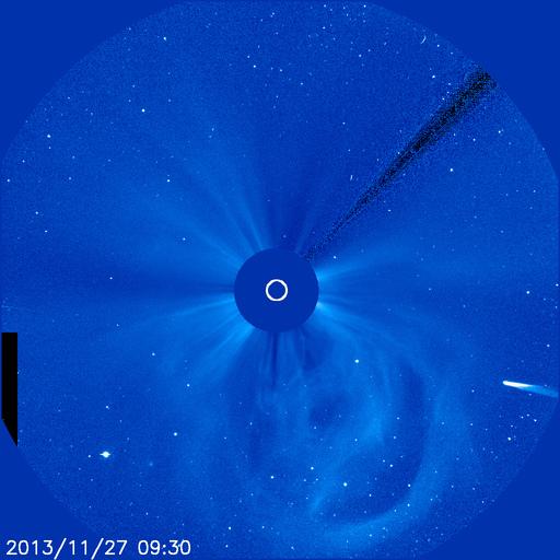 Slika dana: ISON na snimku SOHO LASCO S3 [27.11.2013]