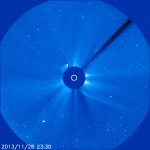 SOHO LASCO S3 snimak u 00:30h (29.11.2013)