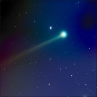 Fotografija komete C/2012 S1 ISON snimljena 14. novembra 2013 (Credit: Mike Hankey)
