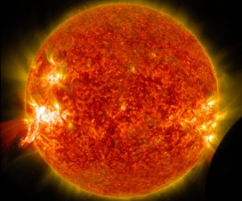 Sunce, solarna erupcija i Mesec [03.02.2014] 5