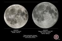 """""""Običan"""" i """"super"""" pun Mesec iz 2007. godine (Izvor: My Dark Sky)"""