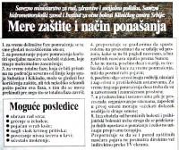 Zvanično upozorenje za  pomračenje Sunca u Srbiji, avgust 1999. godine