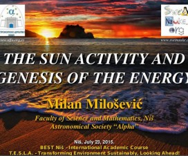 The Sun Activity and Genesis of the Energy 10
