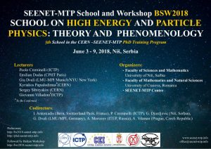 "The SEENET-MTP School ""High Energy and Particle Physics: Theory and Phenomenology"" – BS2018"