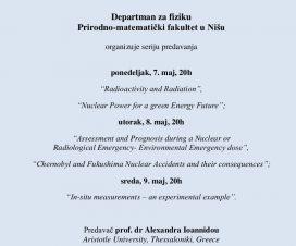 Serija predavanja na Departmanu za fiziku u Nišu 2
