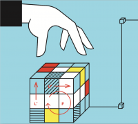 Takmičenje u slaganju Rubikove kocke na Trgu Republike 1