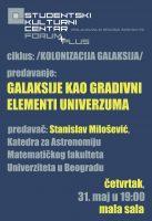 """Predavanje """"Galaksije kao gradivni elementi Univerzuma"""" 1"""