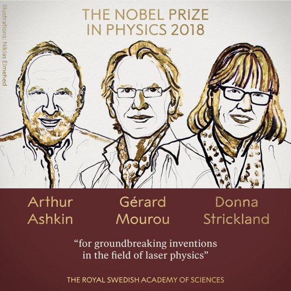 Nobelova nagrada za otkrića u oblasti fizike lasera 1