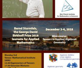 """Mini-kurs """"Tenzori u primenjenoj algebarskoj geometriji"""" 6"""