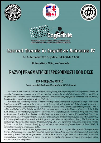 """Seminar """"Razvoj pragmatičkih sposobnosti kod dece"""" u Nišu 1"""